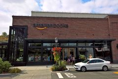 De Boekhandel van Amazonië, Seattle, WA stock foto's
