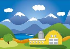 De Boerderij van de berg vector illustratie