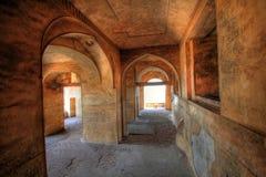 De bogen van de Zaal van Dharbar en detail, Fort Golconda Royalty-vrije Stock Afbeeldingen