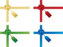 De bogen van Kerstmis en giftkaarten stock illustratie