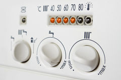 De boilercontroles van de centrale verwarming Stock Afbeeldingen