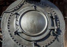De Boilerdeur van de stoomtrein Stock Fotografie