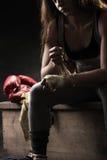 De bokser van de vrouw Stock Foto's