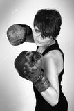 De bokser van het meisje Royalty-vrije Stock Fotografie