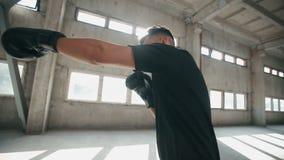 De bokser werkt uit stock footage