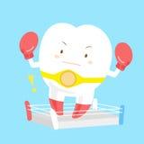 De bokshandschoenen van de tandslijtage royalty-vrije illustratie