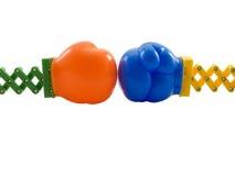 De Bokshandschoenen van het stuk speelgoed Stock Fotografie