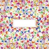 De bol glanzende achtergrond van de regenboog shinny bloem Stock Afbeeldingen