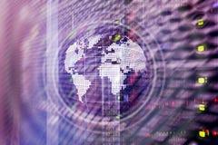 De Bol Globaal communicatie van het aardehologram Bedrijfsconcept Wereldwijd royalty-vrije stock foto