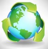 De bol kringloopconcept van de aarde vector illustratie