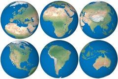 De bol van de aarde vector illustratie