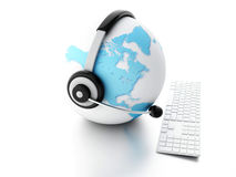 DE BOL VAN DE AARDE Globaal Communicatie concept Royalty-vrije Stock Fotografie