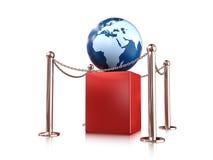 De bol van de aarde op voetstuk Royalty-vrije Stock Foto