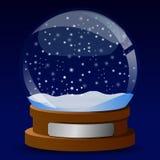 De bol van de de kaartsneeuw van de winter vector illustratie