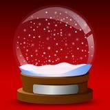 De bol van de de kaartsneeuw van de winter stock illustratie