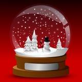 De bol van de de kaartsneeuw van de winter Royalty-vrije Stock Afbeeldingen