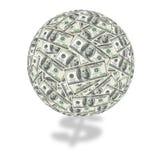 De bol van de honderd dollarrekening Royalty-vrije Stock Foto