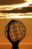 De bol van de Kaap van het Noorden bij middernacht #4 stock afbeelding