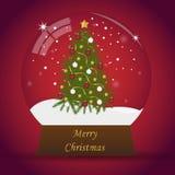 De bol van de Kerstmissneeuw Royalty-vrije Stock Foto's