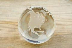 De bol van de kristallen bol Stock Foto's
