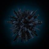 De bol van de nachtstad Stock Afbeelding
