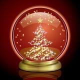 De Bol van de sneeuw - Kerstboom Royalty-vrije Stock Foto