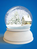 De bol van de sneeuw met het knippen van weg Stock Fotografie