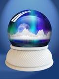 De bol van de sneeuw met het knippen van weg Royalty-vrije Stock Fotografie