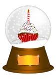 De Bol van de Sneeuw van het water met Illustratie Cupcake Royalty-vrije Stock Fotografie