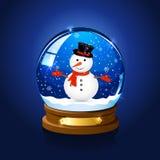 De Bol van de Sneeuw van Kerstmis met Sneeuwman royalty-vrije illustratie