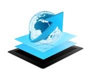 De bol van de tabletwereld vector illustratie