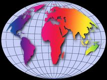 De bol van de wereld royalty-vrije stock afbeelding