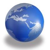 De bol van de wereld op witte achtergrond vector illustratie