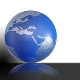 De bol van de wereld op witte achtergrond royalty-vrije illustratie