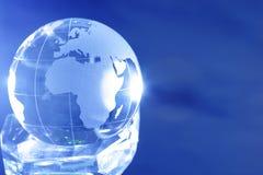 De bol van het glas Stock Foto's