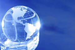 De bol van het glas stock afbeeldingen