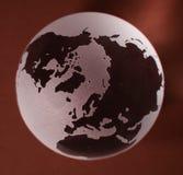 De Bol van het glas met rode achtergrond Royalty-vrije Stock Afbeelding