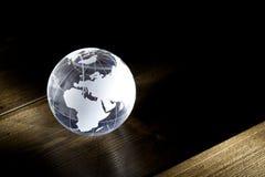 De bol van het glas op lijst Stock Afbeelding