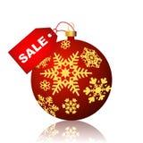 De bol van Kerstmis met sneeuwvlokken Stock Afbeeldingen
