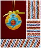 De bol van Kerstmis met weinig engel Stock Afbeelding