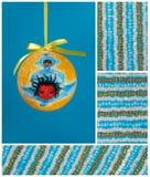 De bol van Kerstmis met weinig engel Royalty-vrije Stock Afbeeldingen