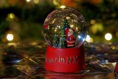 De bolbal van de Kerstmissneeuw Royalty-vrije Stock Foto