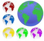 De bollen van de aarde Stock Fotografie