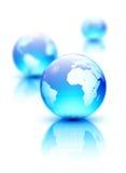 De bollen van de aarde Royalty-vrije Stock Foto's