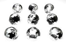 De bollen van het glas royalty-vrije stock foto