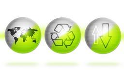 De bollen van het milieu Stock Afbeeldingen