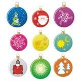 De bollen van Kerstmis Stock Afbeelding