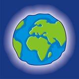 De bolpictogram van de aarde Royalty-vrije Stock Foto's