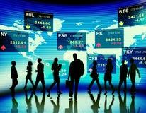 De bolsa de valores executivos do conceito de troca do mercado fotografia de stock royalty free