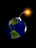 De bom van de aarde Royalty-vrije Stock Foto